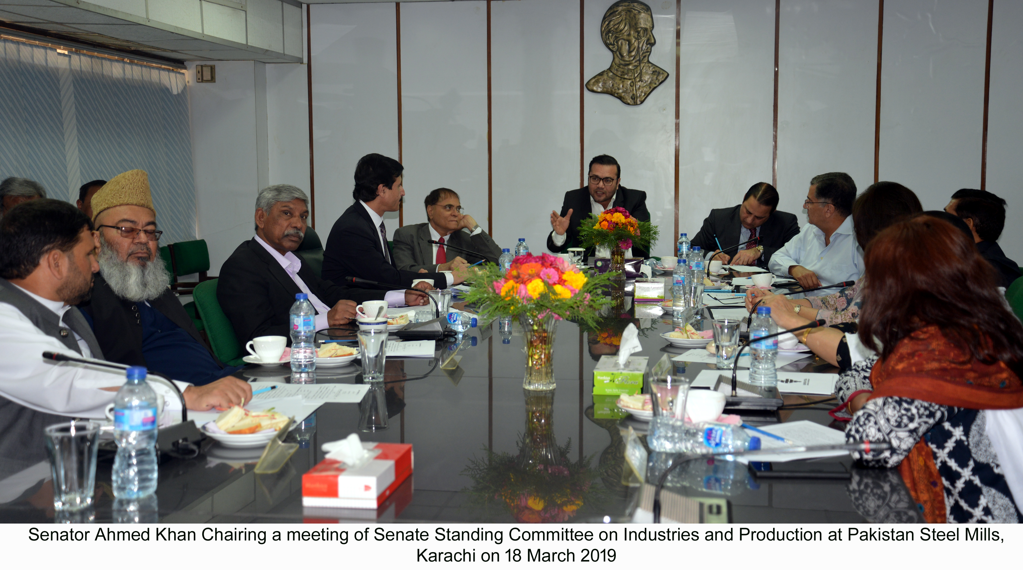 Senator Ahmed Khan Chairing a meeting of Senate Standing ...
